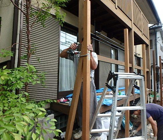 生垣から木柵へリフォーム工事
