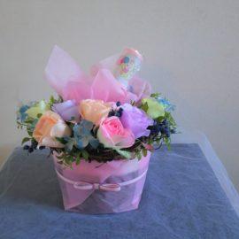 ⑤-H おむつケーキ(ピンク)